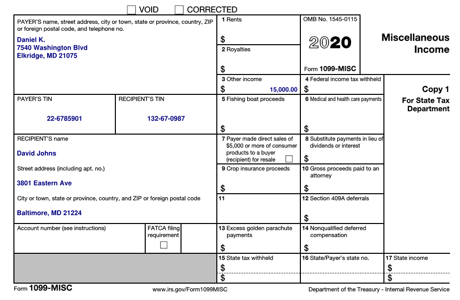 Printable Form 1099 MISC 2021 insctuctions | What is 1099 ...